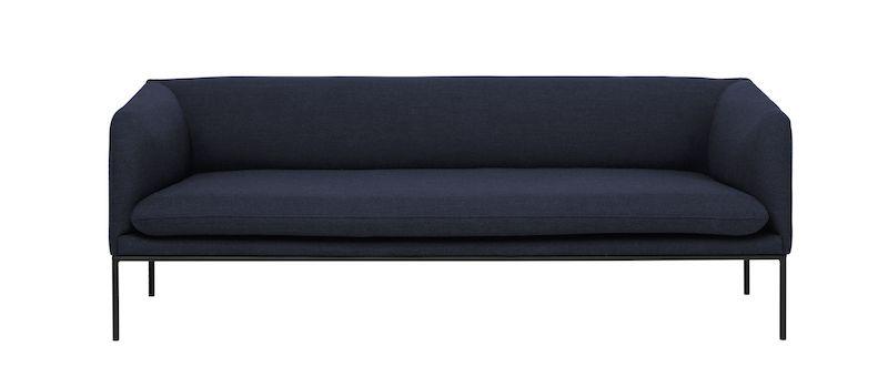 ferm LIVING - Turn Sofa 3 Fiord - Solid Blå