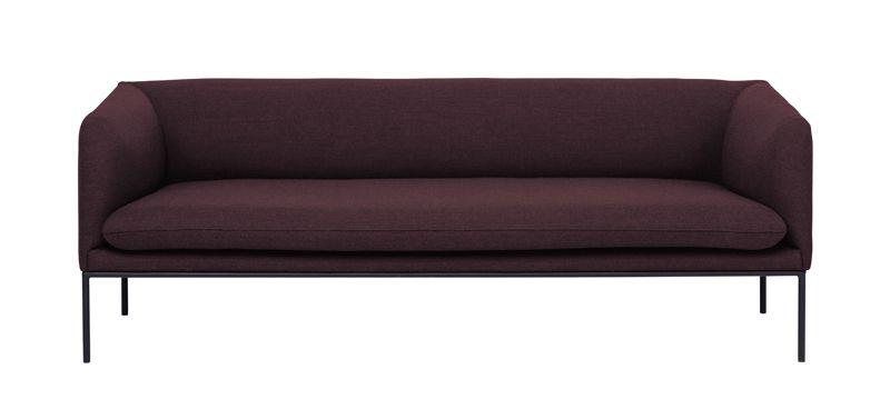 ferm LIVING - Turn Sofa 3 - Fiord - Solid Bordeaux