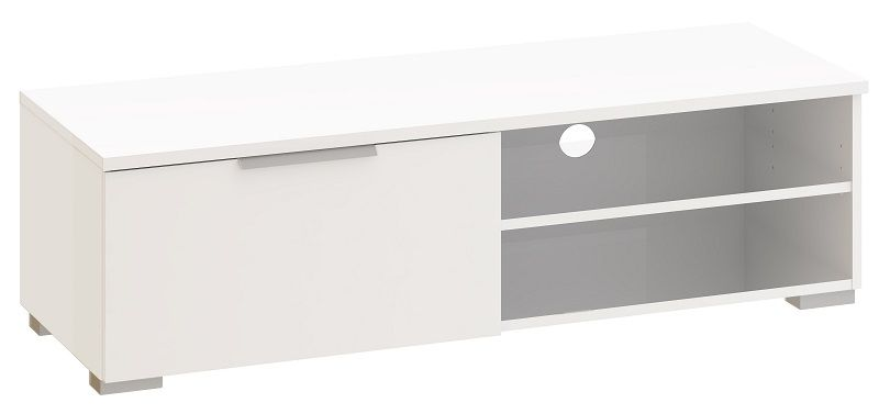 Match TV-benk - Hvit høyglans