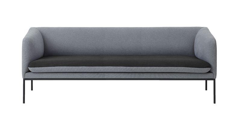 ferm LIVING - Turn Sofa 3 - Bomull - Lys grå/Dk Grå