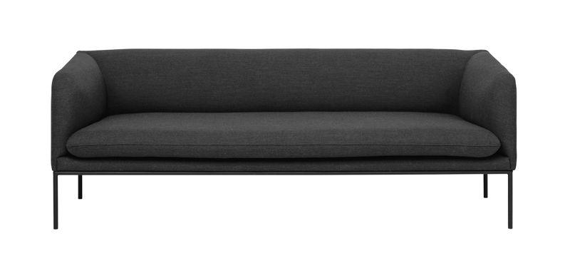 ferm LIVING - Turn Sofa 3 - Fiord - Solid Mørk Grå