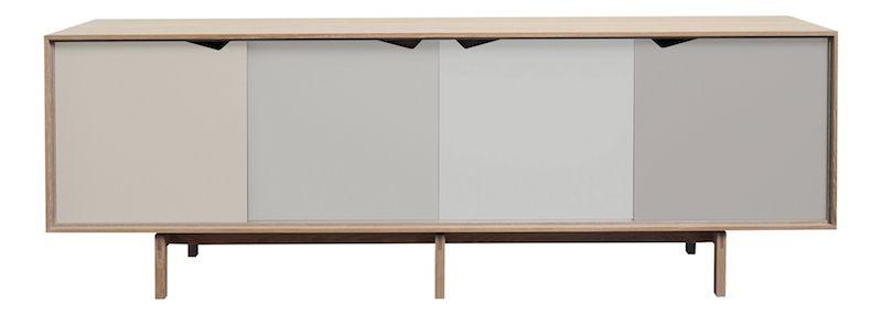Andersen Furniture - S1 Skjenk - Eik såpe - Ocean Grey