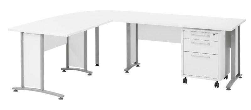 Prima Skrivebord - Hvit - 200x80